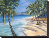 Sugar Beach Stretched Canvas Print by Dana Ridenour