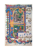 Choral response for religious services, illuminated manuscript, 14th c. Osservanza Basilica, Siena Art