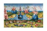 Garden of Earthly Delights,(Martyrs & Angels) by Hieronymus Bosch, c. 1503-04. Prado. Detail. Print van Hieronymus Bosch