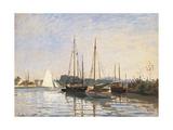 Sailing Boats at Argenteuil 高画質プリント : クロード・モネ