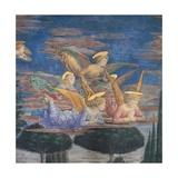 Worshipping Angels Kunst af Benozzo Gozzoli