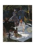 Breakfast in the Greenery Giclée-Premiumdruck von Claude Monet