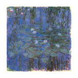 Blue Water Lilies Print by Claude Monet