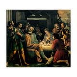Nativity and the Adoration of the Shepherds Láminas por Giuseppe Vermiglio