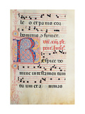 Choral part of the Mass, illuminated manuscript, 15th c. Osservanza Basilica, Siena, Italy Posters