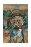 L'homme à la Pipe (Le Fumeur) Poster par Umberto Boccioni