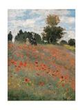 Poppy Field Giclée-Premiumdruck von Claude Monet