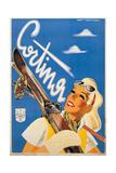 Poster Advertising Cortina d'Ampezzo Kunstdrucke von Franz Lenhart