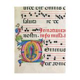 Illuminated manuscript by Benvenuto di Giovanni, 15th c. Osservanza Basilica, Siena, Italy Prints by  Benvenuto di Giovanni