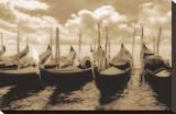 Venice Gondolas Kunst op gespannen canvas van Jamie Cook