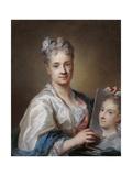 Self portrait Plakater av Rosalba Carriera
