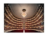 View of the Teatro alla Scala, Milan, after its restoration in 2004, Milan, Italy Posters by Giuseppe Piermarini