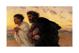 Peter and John Running at the Sepulchre on the Morning of the Resurrection Posters af Eugene Burnand