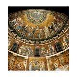 Mosaics by Pietro Cavallini, c. 1291, in Santa Maria in Trastevere Church, Rome, Italy Plakater af Pietro Cavallini