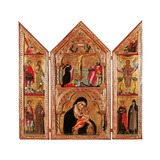 Movable Altarpiece (Triptych) Kunst af Paolo Veneziano