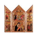 Movable Altarpiece (Triptych) Kunstdrucke von Paolo Veneziano
