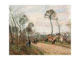 Road to Louveciennes Poster par Camille Pissarro