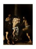 Kristuksen ruoskinta Poster tekijänä  Caravaggio