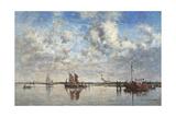 Port of Rotterdam Art by Eugène Boudin