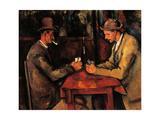 Joueurs de cartes Affiche par Paul Cézanne