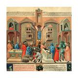 Illuminated manuscript, Digestum Vetus Posters by  Master of 1328