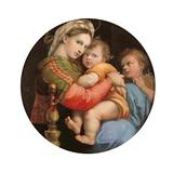 La Vierge à la chaise Posters par  Raphael