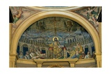Christ Enthroned With the Apostles, 4th c. mosaic, Santa Prassede Basilica, Rome, Italy Plakater
