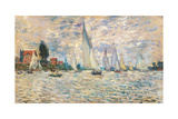 Regattas at Argenteuil Art by Claude Monet