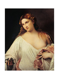 Flora Plakater af  Titian (Tiziano Vecelli)