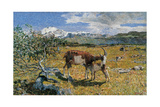 Alps in May (The Loving Mother) Kunst af Giovanni Segantini