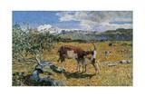 Alps in May (The Loving Mother) Kunst von Giovanni Segantini