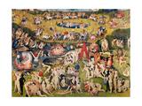 Garden of Earthly Delights,(Martyrs & Angels) by Hieronymus Bosch, c. 1503-04. Prado, Madrid. Julisteet tekijänä Hieronymus Bosch