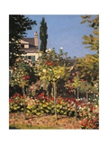 Garden at Sainte Adresse Giclée-Premiumdruck von Claude Monet