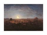 Sheep Meadow, Moonlight Kunst af Jean-François Millet