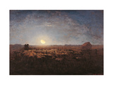 Sheep Meadow, Moonlight Posters by Jean-François Millet