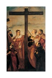 Adoration of the Cross (Sts. Helen, Barbara, Andrew, Macarius) Pósters por  Tintoretto