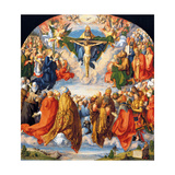 Adoration of the Holy Trinity (Landauer Altarpiece) Posters par Albrecht Dürer