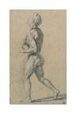 Drawing, Male Nude Walking Kunstdrucke von  Raphael