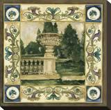 Garden Statuary Stretched Canvas Print by Elizabeth Jardine