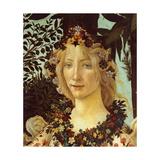 Primavera, Face of Flora Posters par Sandro Botticelli
