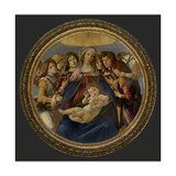 Virgin and Child with six angels (Madonna of the Pomegranate) Poster by Sandro Botticelli