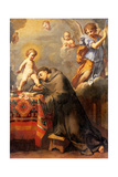 St. Anthony of Padua Adoring the Infant Christ Poster von Elisabetta Sirani