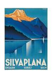 Poster for Silvaplana Láminas por Johannes Handschin