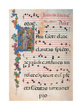 Choral response for religious services, illuminated manuscript, 14th c. Osservanza Basilica, Siena Prints