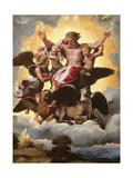 Vision of Ezekiel Taide tekijänä Raphael,