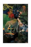 White Horse Art by Paul Gauguin