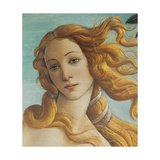 Birth of Venus, Head of Venus Posters by Sandro Botticelli