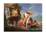 Thetis Entrusting Achilles to the Centaur Chiron Kunst af Pompeo Batoni