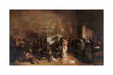 Artist's Studio Láminas por Gustave Courbet
