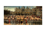 Procession in St. Mark's Square Poster by Gentile Bellini